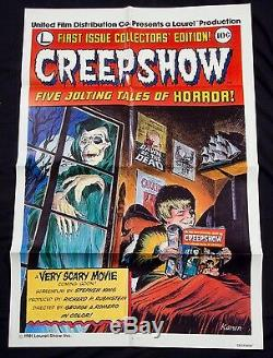 CREEPSHOW Original 1982 Movie Poster George A. ROMERO Stephen KING Near Mint OS