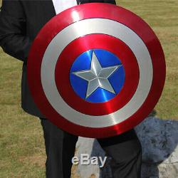 Captain America Metal Shield Made of Aluminum Alloy 11 Scale Cosplay Prop Gifts