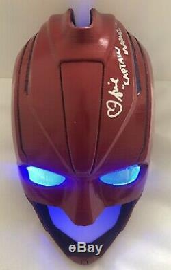 Captain Marvel Helmet Signed Autographed Brie Larson Avengers Silver Paint JSA