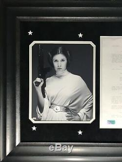 Carrie Fisher Owned Original Star Wars New Hope Script Page Framed Estate Coa #1