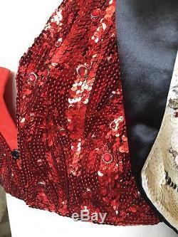 Casino Movie Memorabilia Custom Made Magician Jacket with Tails Sequins Costume