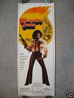Cleopatra Jones 1973 Original Movie Poster Insert Tamara Dobson Blaxploitation