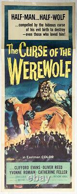 Curse of the Werewolf Original Insert Poster 1961 Hammer hard to find