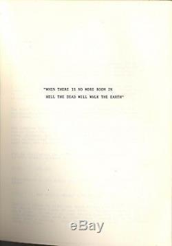 DAWN OF THE DEAD (1978) Vintage original final shooting script / GEORGE ROMERO