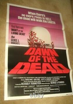 DAWN OF THE DEAD'78 George Romero zombie classic! TRI FOLDED VF/NM