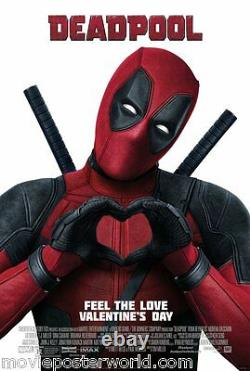 DEADPOOL Original Movie Poster Final DS 2-sided Double Sided 27X40 MARVEL