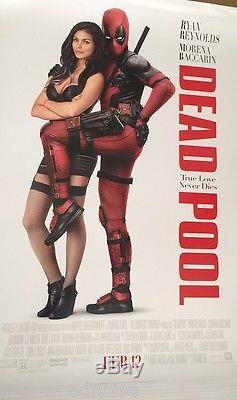 DEADPOOL Original Movie Poster Single Sided 27X40 Ryan Reynolds Morena Baccarin