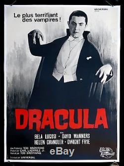 DRACULA BELA LUGOSI FRENCH 1P ORIGINAL MOVIE POSTER 1960's HORROR VAMPIRE