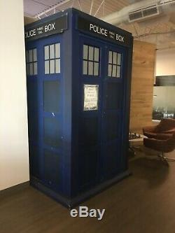 Doctor Who Life-Size Wooden Tardis Whovian Booth British Good Condition