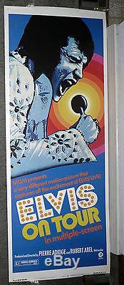 ELVIS ON TOUR original ROLLED 14x36 insert movie poster ELVIS PRESLEY