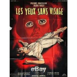 EYES WITHOUT A FACE French Movie Poster 47x63 1960 Georges Franju, Pierre B