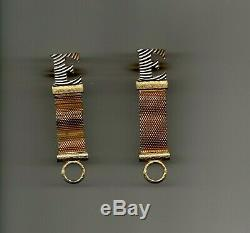 Elvis Presley Personally Owned & Worn in E Cufflinks from Personal Hairdresser
