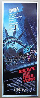 Escape From New York (1981) Original 24 X 36 Insert Movie Poster Rolled Mint