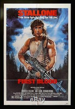 FIRST BLOOD CineMasterpieces 1SH ORIGINAL MOVIE POSTER NM-M 1982 RAMBO GUN