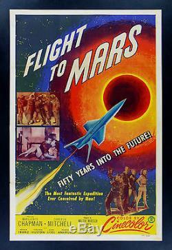 FLIGHT TO MARS CineMasterpieces ORIGINAL SPACE ROCKET SCI FI MOVIE POSTER 1951