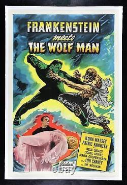 FRANKENSTEIN MEETS THE WOLFMAN CineMasterpieces ORIGINAL MOVIE POSTER 1949R