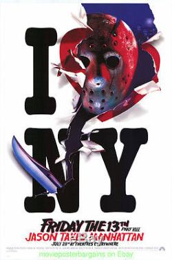 FRIDAY THE 13TH VIII PART 8 MOVIE POSTER 27x40 ORIGINAL RECALLED STYLE ADVANCE