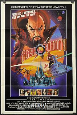 Flash Gordon 1980 Original 27x41 1-sheet Movie Poster Sam J. Jones Max Von Sydow