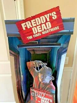 Freddy's Dead The Final Nightmare on Elm Street Movie Video Store Standee RARE