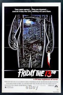 Friday The 13th Cinemasterpieces 1sh Original Movie Poster 1980 Horror