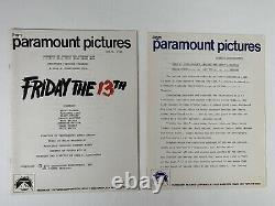 Friday the 13th Vintage Rare Press Kit 1980 Jason Horror Sci Fi Movie Halloween