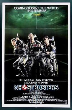 GHOSTBUSTERS CineMasterpieces 1SH ORIGINAL MOVIE POSTER NM-M 1984