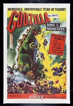 GODZILLA CineMasterpieces 1956 MONSTER HORROR DINOSAUR ORIGINAL MOVIE POSTER