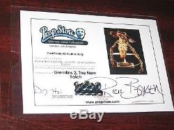 GREMLINS 2 Original Movie Prop/Puppeteer RICK BAKER COLLECTION Signed COA