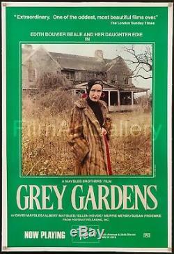 GREY GARDENS 1976 original U. S. 1 sheet linen-backed Edie Beale Film/Art Gallery