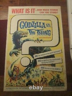 Godzilla Vs The Thing -Original 40 x 60 Movie Poster Toho