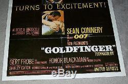 Goldfinger 1964 Original U. S. One Sheet Movie Poster James Bond Sean Connery