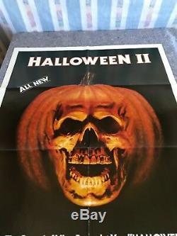 HALLOWEEN 2 1981 ORIGINAL 1 SHEET MOVIE POSTER 27x41 (F/VF) JAMIE LEE CURTIS