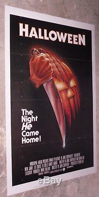 HALLOWEEN original 1978 TRI-FOLDED one sheet movie poster JOHN CARPENTER