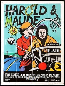 HAROLD AND MAUDE 47x63 Original French 2009 RI poster Film/Art Gallery