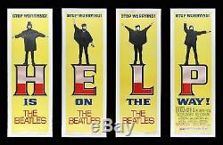 HELP! CineMasterpieces THE BEATLES ORIGINAL DOOR PANEL SET MOVIE POSTERS 1965