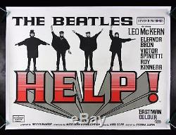 HELP! CineMasterpieces THE BEATLES RARE BRITISH ORIGINAL MOVIE POSTER 1965