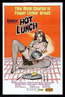 HOT LUNCH CineMasterpieces ORIGINAL MOVIE POSTER 1978 ADULT X RATED