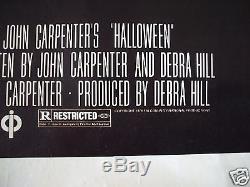 Halloween 1978 Original Movie Poster 1sh John Carpenter's Autograph The Thing