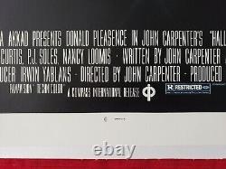 Halloween 1978 Original Movie Poster 1sh Linen Backed Blue Ratings Box Beauty
