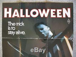 Halloween 1978 Original Movie Poster Ultra Rare Aussie 1sh Michael Myers Mask