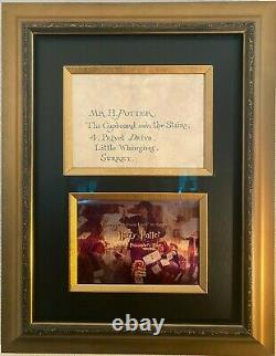 Harry Potter'Hogwarts Letter' Original Screen Used Movie Prop with COA