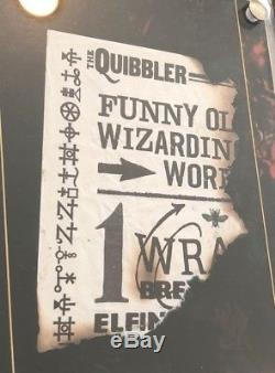 Harry Potter Prop Screen Used Blown Up Quibbler Piece With Frame & COA