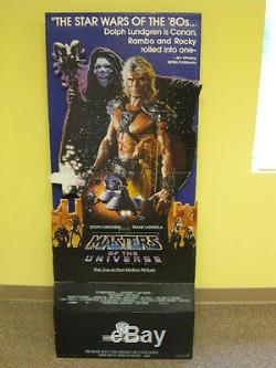 He-Man Masters of the Universe Movie Standee Dolph Lundgren (1987) Warner Bros