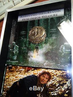 Hobbit Screen Used Prop Coin from Erebor Treasure+DISPLAY Lord of the Rings