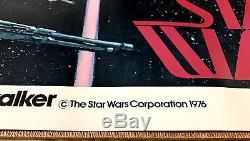 Howard Chaykin 1976 ORIGINAL Star Wars movie poster 1st SW Premium! VG-Fn JVJ