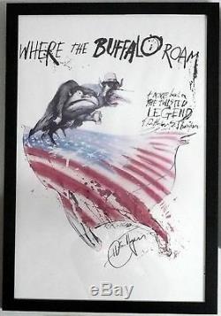 Hunter ThompsonSIGNEDWhere the Buffalo RoamUNIQUE! + Photos! Movie Poster