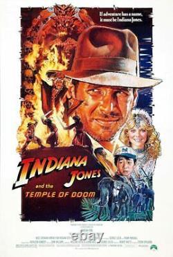INDIANA JONES AND THE TEMPLE OF DOOM / Gloria Katz 1983 Screenplay HARRISON FORD