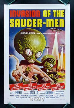 INVASION OF THE SAUCERMEN CineMasterpieces ORIGINAL ALIEN MOVIE POSTER 1957