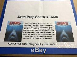 JAWS 1975! Bruces Tooth! Movie Prop Original Piece