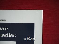 JAWS 1975 ORIGINAL MOVIE POSTER 27x41 VINTAGE STEVEN SPIELBERG E. T. HALLOWEEN
